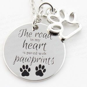 Jewelry - Paved with Paw prints Necklace 🐾
